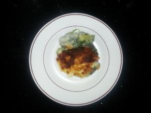 Espinacas con jamón al horno