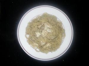 Espaguetis con salsa de setas