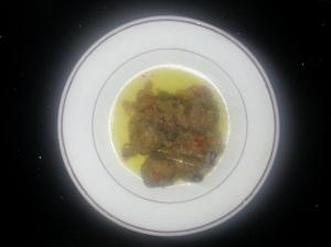 Albóndigas con verduras al brandy