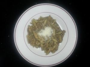 Espirales con salsa de setas y cebolla